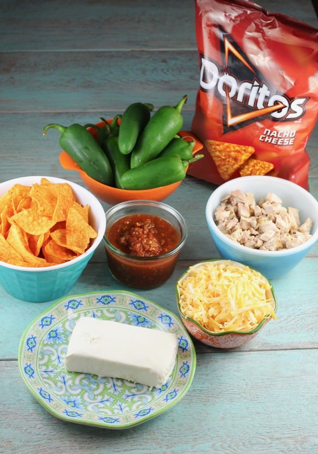 Ingredients for Doritos Chicken Jalapeno Poppers Recipe ~ MIssinIngredients for Doritos Chicken Jalapeno Poppers Recipe ~ MIssintheKitchen.com #ad