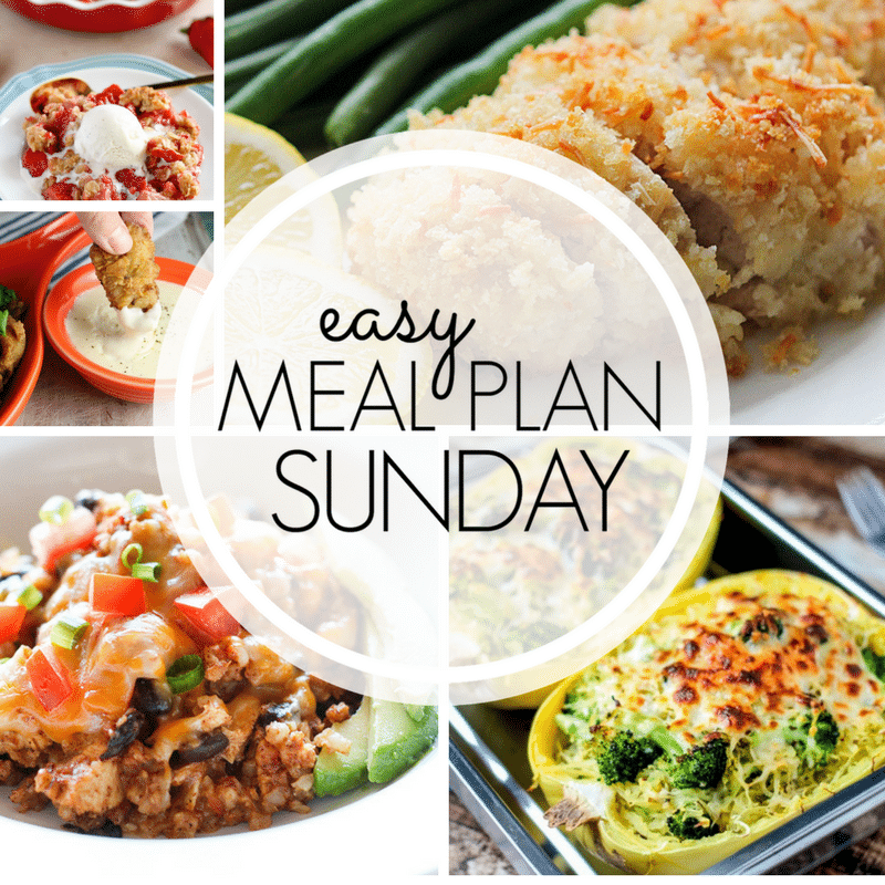 Easy Meal Plan Sunday 98