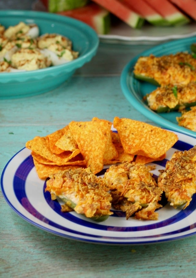 Doritos Chicken Jalapeno Poppers Recipe ~ great for cookouts and BBQ's from MIssintheKitchen.com #ad #SayYesToSummer