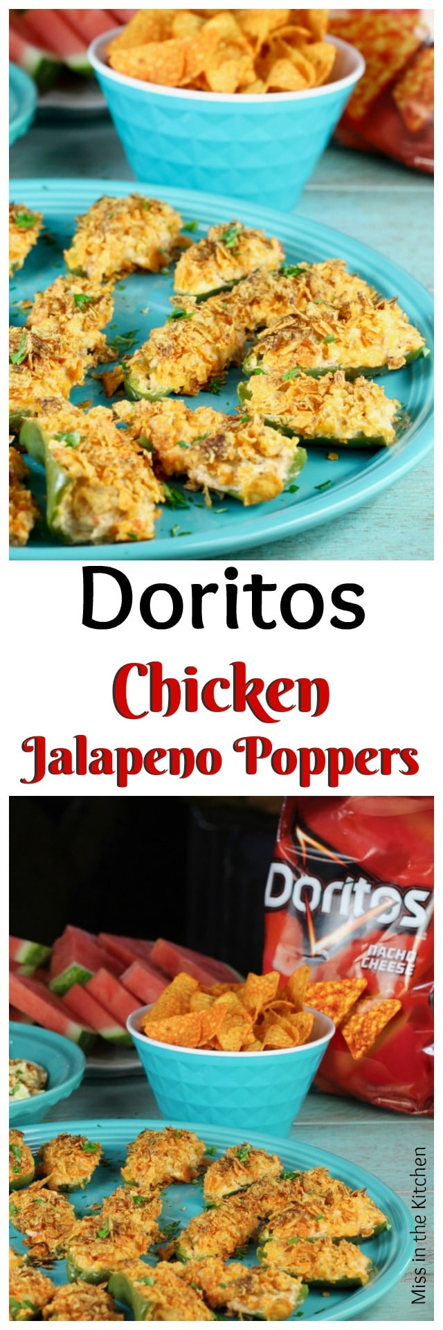 Doritos Chicken Jalapeno Poppers Recipe from MissintheKitchen.com Easy Summer Appetizer! #Ad #SayYesToSummer