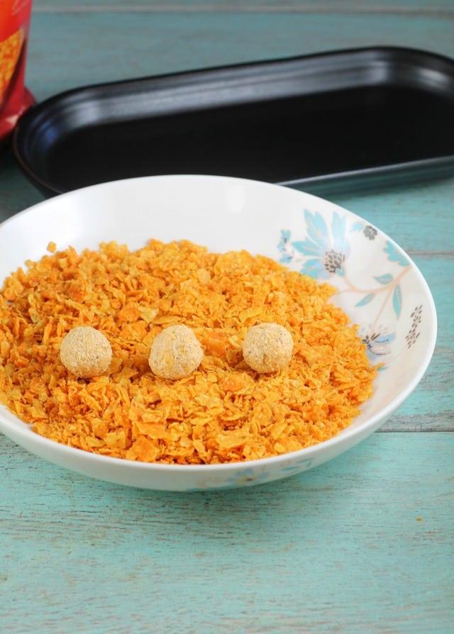 Crushed Doritos for Mini Doritos Cheese Balls Recipe ~ MissintheKitchen.com