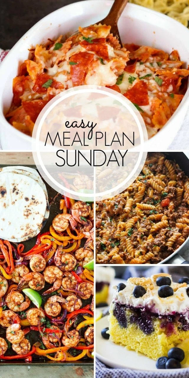 Easy Meal Plan Sunday {Week 100} From MissintheKitchen.com