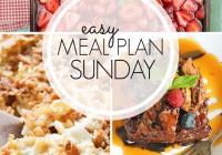 Easy Meal Plan Sunday {Week 104}