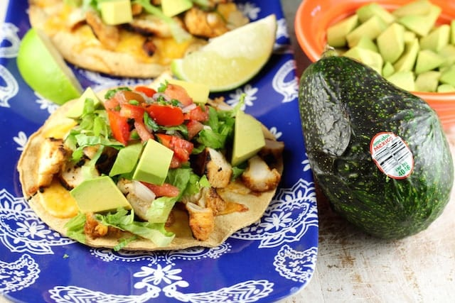 Grilled Chicken Tostadas ~ MissintheKitchen.com