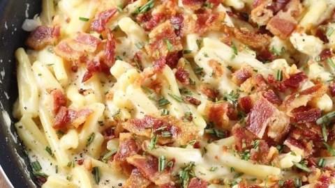 Bacon White Cheddar Pasta