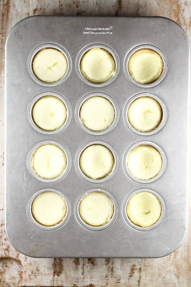 Baked Mini Cheesecakes ~ MissintheKitchen.com