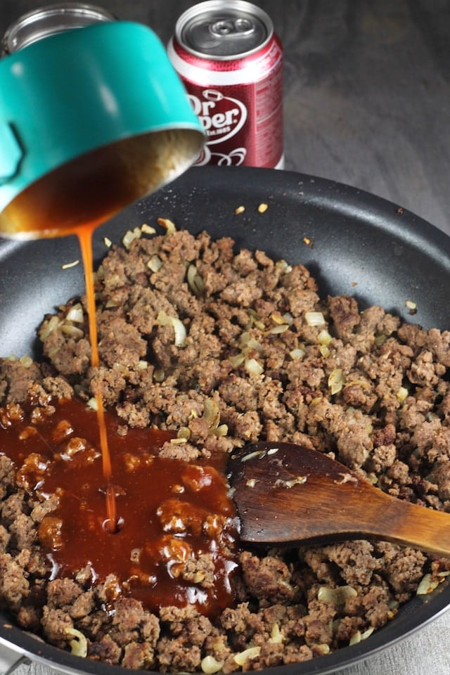 Dr. Pepper Barbecue Sloppy Joes Recipe ~ MissintheKitchen.com #AD @DrPepper