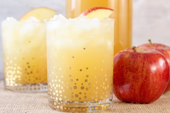 Easy Fall Party Punch with apple cider and gingerale