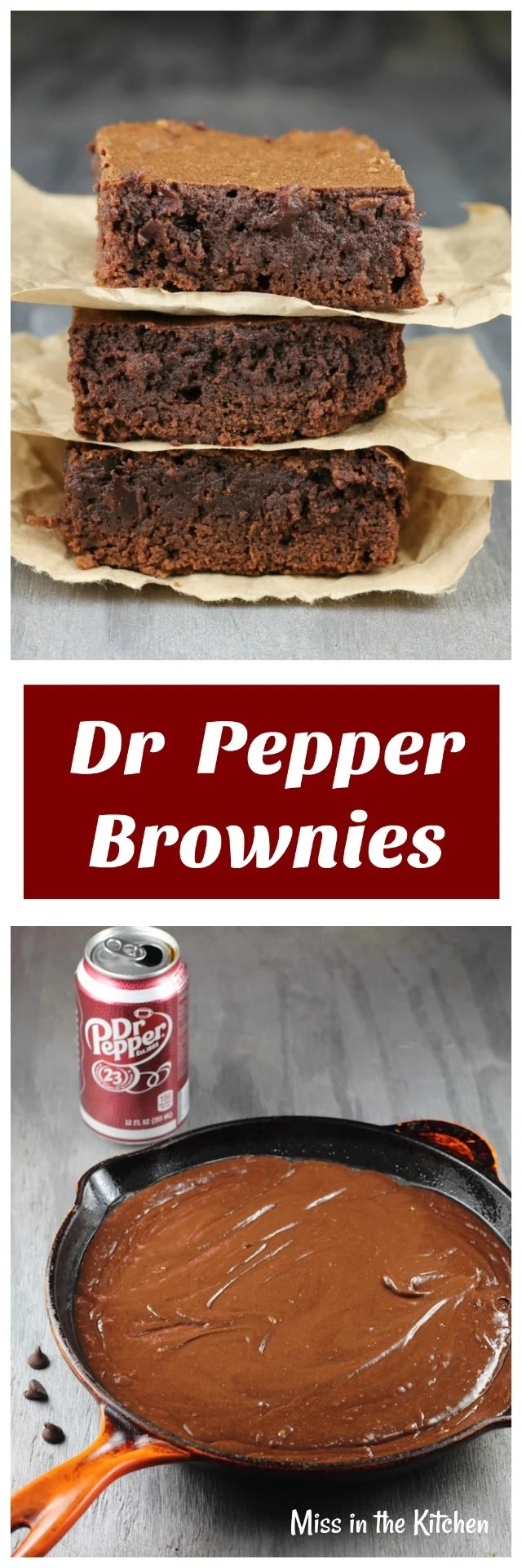 Dr Pepper Brownies Recipe from MissintheKitchen.com