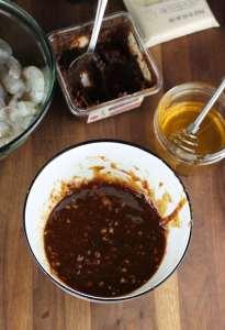 Marinade for Miso Honey Garlic Shrimp Recipe From MissintheKitchen.com #Marinade #shrimp