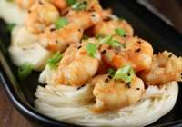 Miso Honey Garlic Shrimp Recipe | MissintheKitchen.com #ad