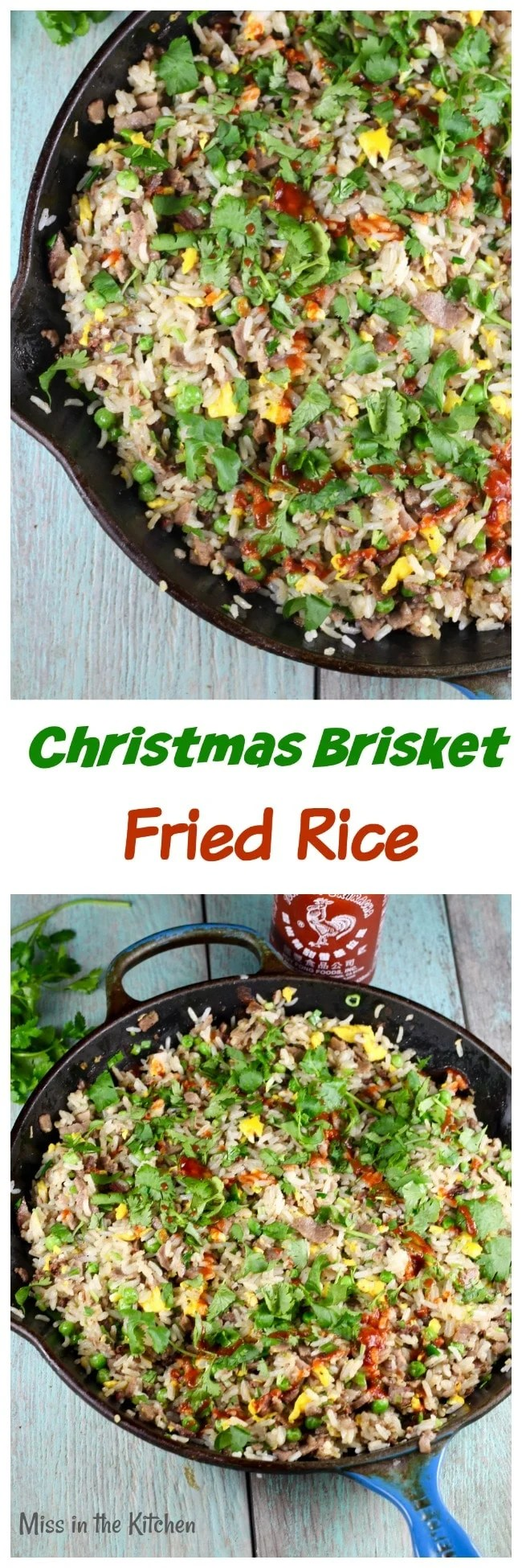 Christmas Brisket Fried Rice Recipe from Bringing it Home by Gale Simmons ~ MissintheKitchen.com #brisket #friedrice