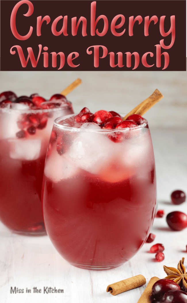Easy Cranberry Wine Punch Cocktails