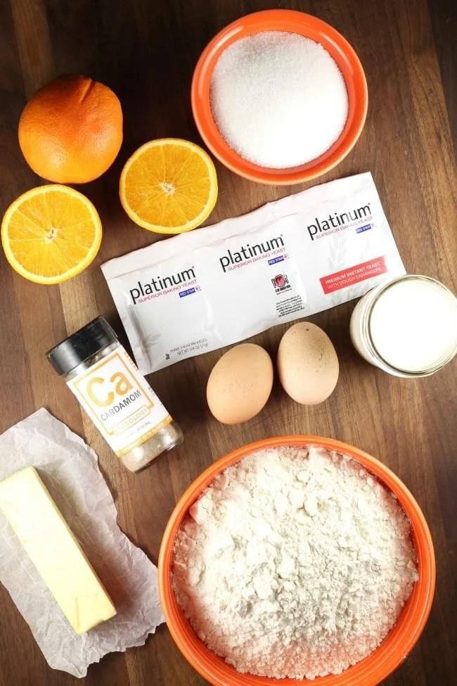 Orange Cardamom Braid Ingredients ~ MissintheKitchen.com #Ad @RedStarYeast