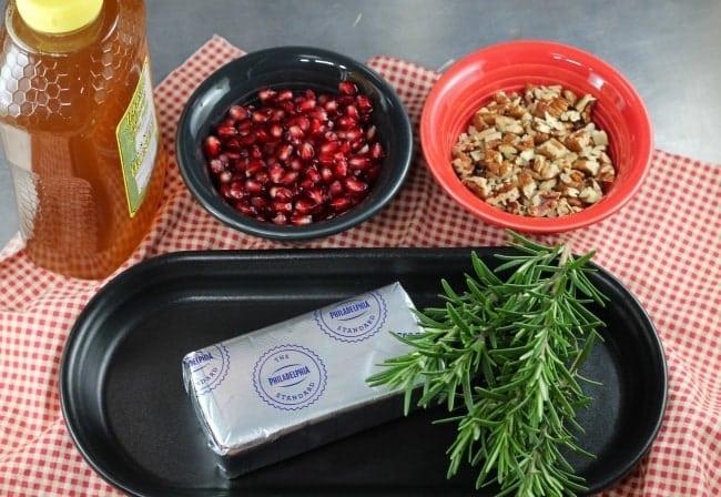 Pomegranate Pecan Party Appetizer Ingredients ~ MissintheKitchen.com