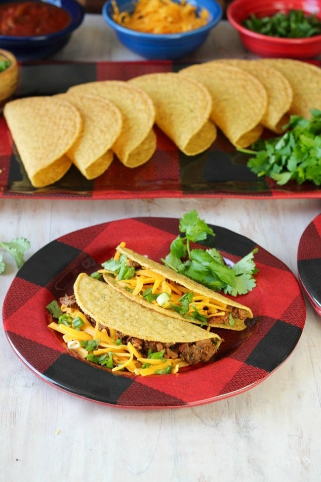 Brisket Tacos are an easy dinner for entertaining or the big game. #recipe found at MissintheKitchen.com