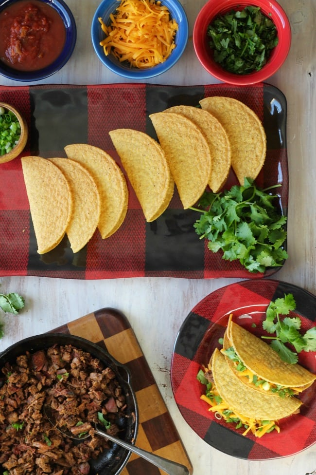 The best smoked Brisket Tacos from MissintheKitchen.com #tacos #brisket
