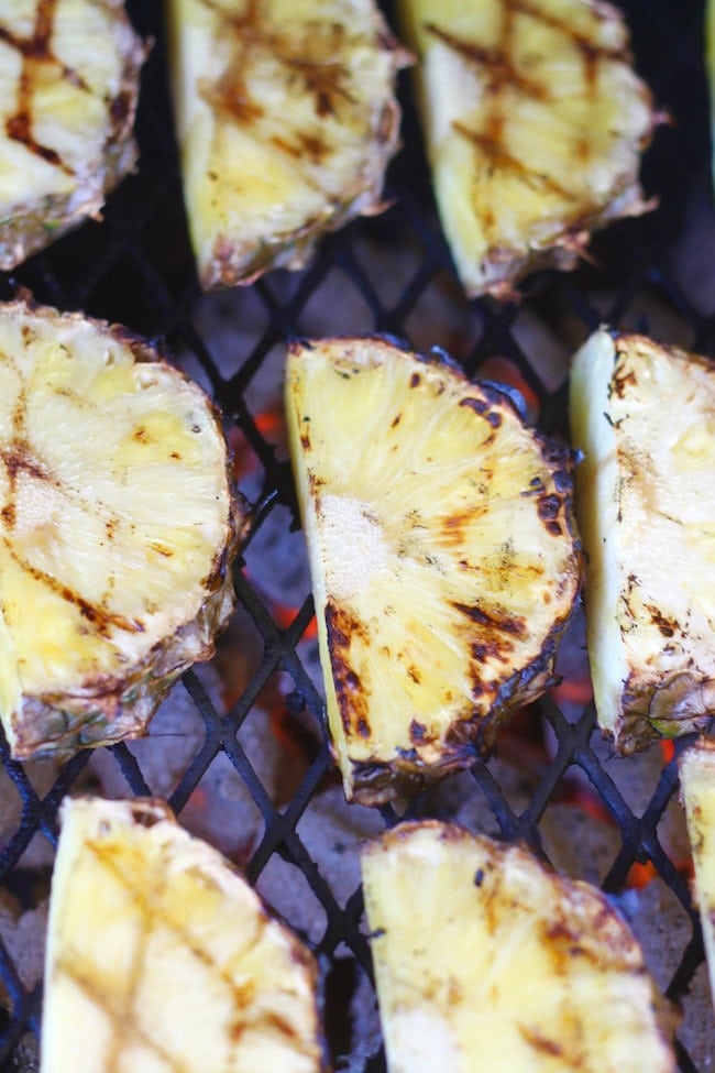 Grilling Pineapple Slices