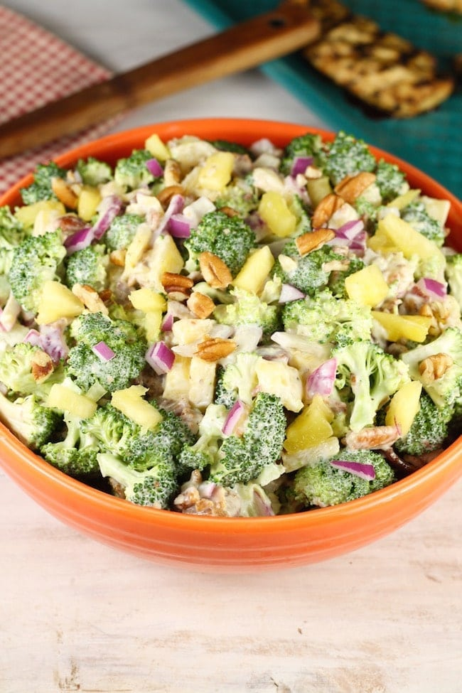Broccoli Pineapple Salad Bowl
