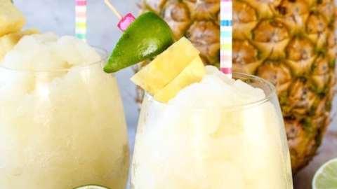 Pineapple Limeade Slush Summer Drink
