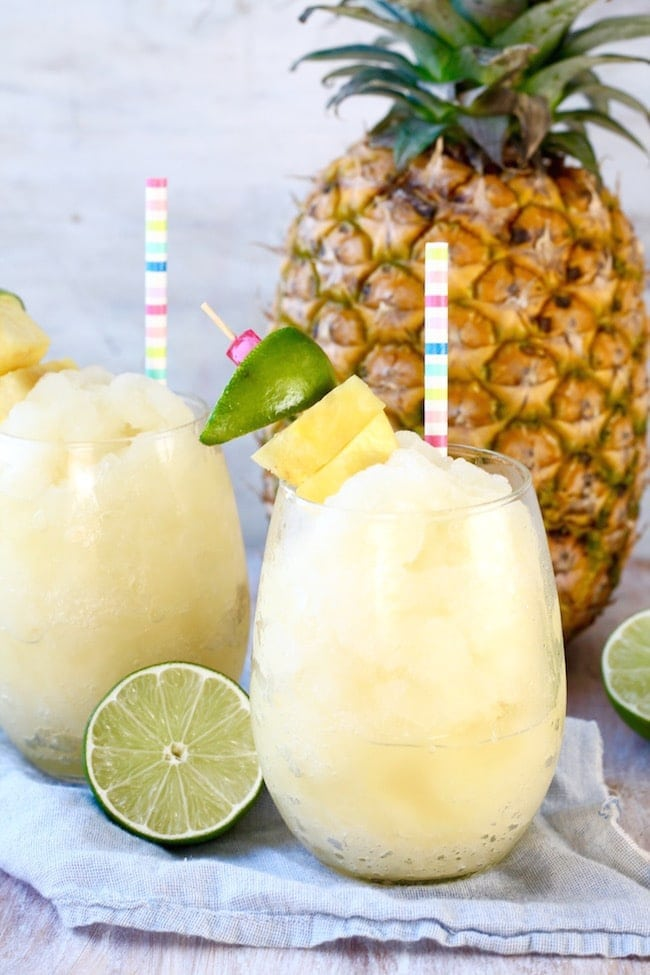 Pineapple Limeade Slush Summer Drink