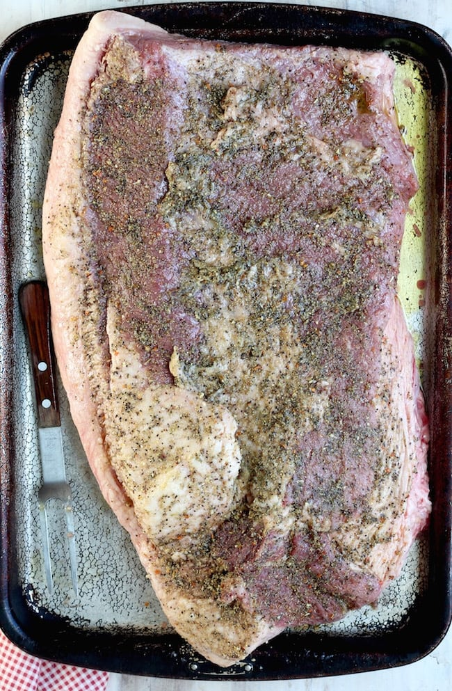 Easy Smoked Brisket with dry rub