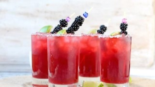 Easy Blackberry Margaritas