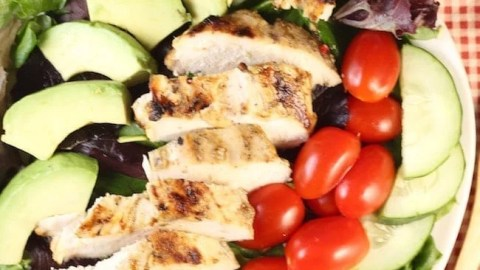 Simple Grilled Chicken Salad
