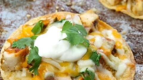 Cheesy Chicken Tostadas