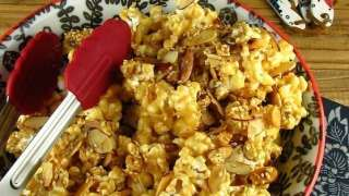 Toasted Sesame & Almond Caramel Popcorn