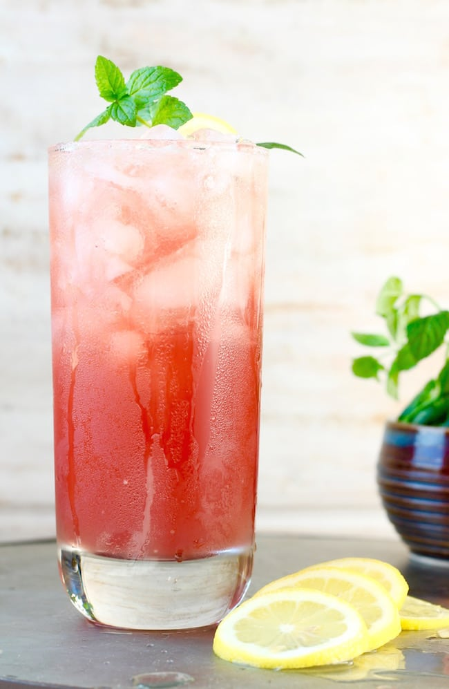 Pomegranate Lemonade party drink