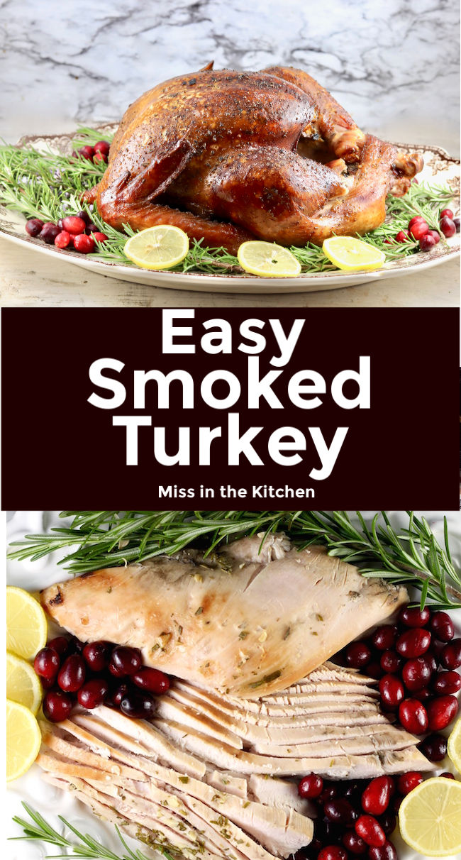 Easy Smoked Turkey Collage