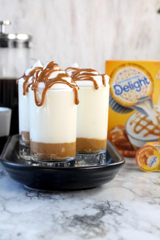 No Bake Caramel Macchiato Cheesecakes International Delight Creamers