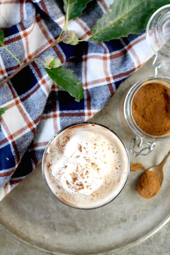 Pumpkin Spice White Russian with whipped cream