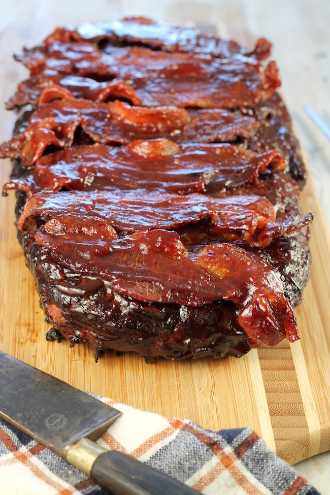Bacon and Barbecue Smoked Meatloaf