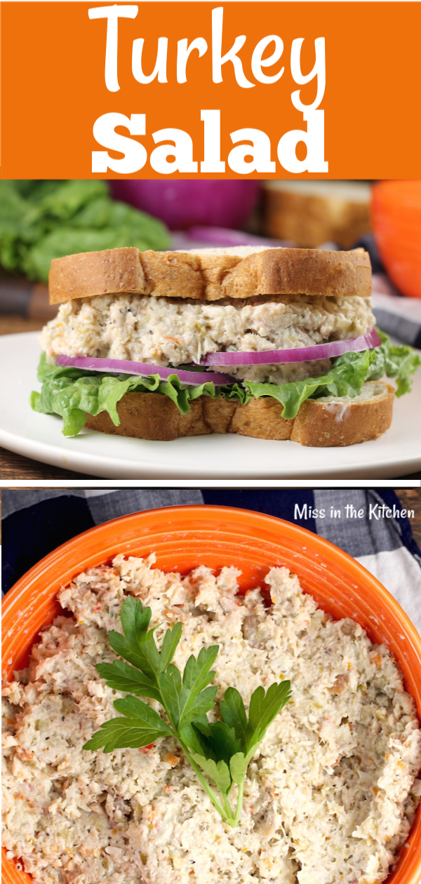 Turkey Salad Sandwich for leftover turkey