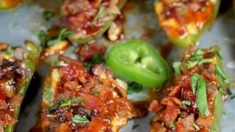 Jalapeño Poppers with Brisket and Bacon