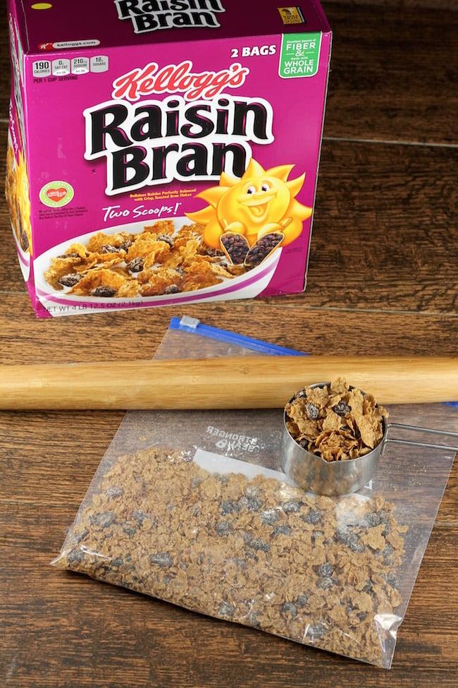 Raisin Bran Cereal for Cinnamon Rolls