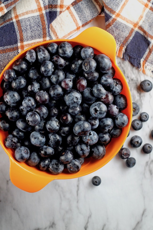 Fresh Blueberries for cobbler