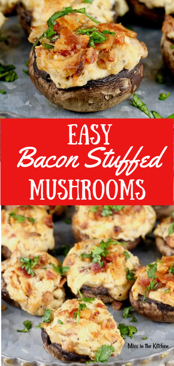 How to Make Easy Bacon Stuffed Mushrooms