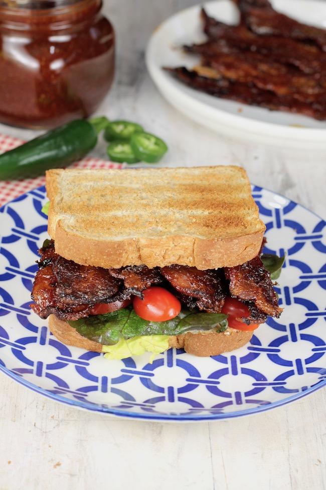 Jalapeno Barbecue Bacon BLT Sandwich