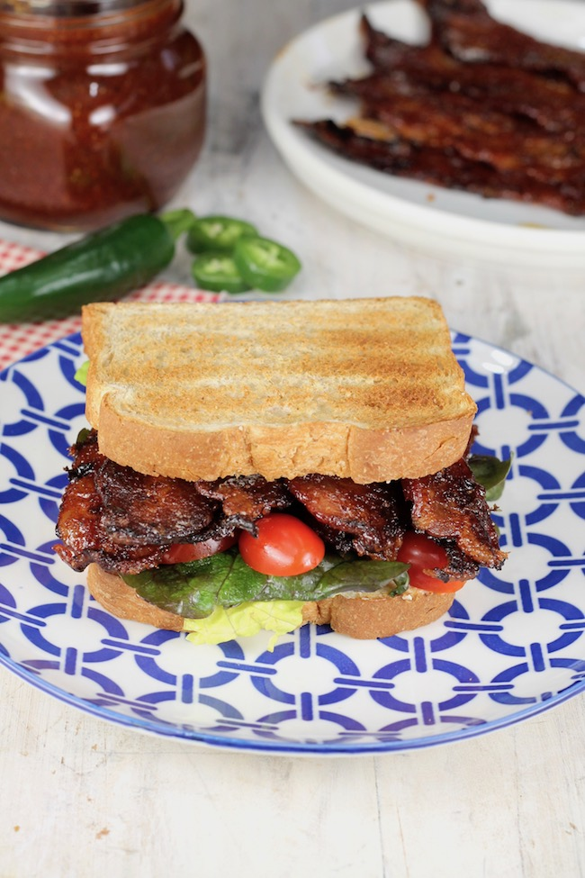 Jalapeno Barbecue Bacon BLT Sandwich
