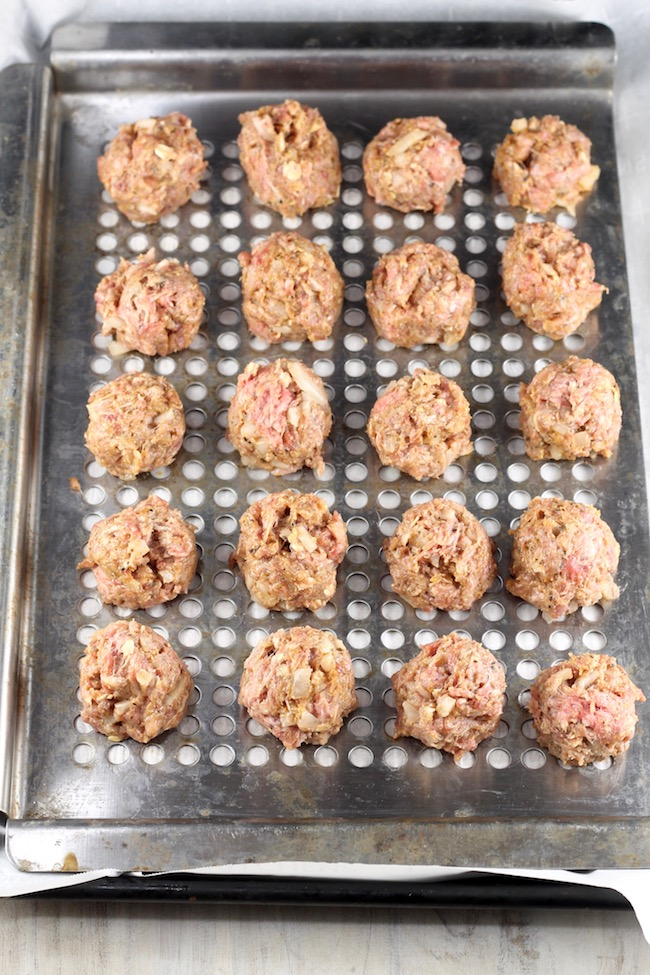 Meatballs ready for the grill