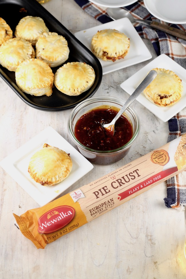 Mini Barbecue Meat Pies made with Wewalka Pie Crust
