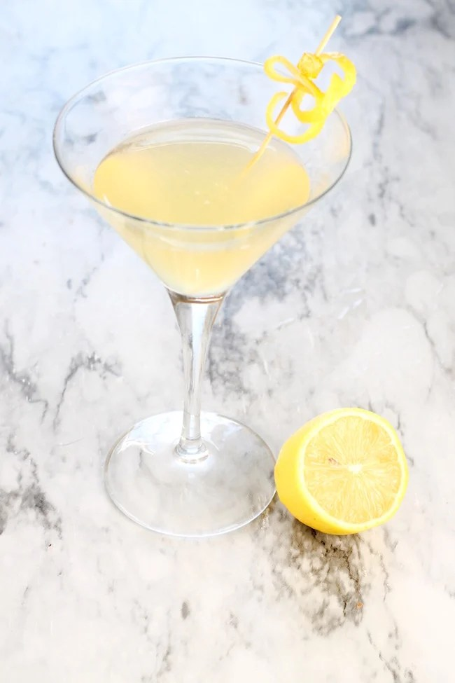 Easy Sidecar Cocktail with bourbon