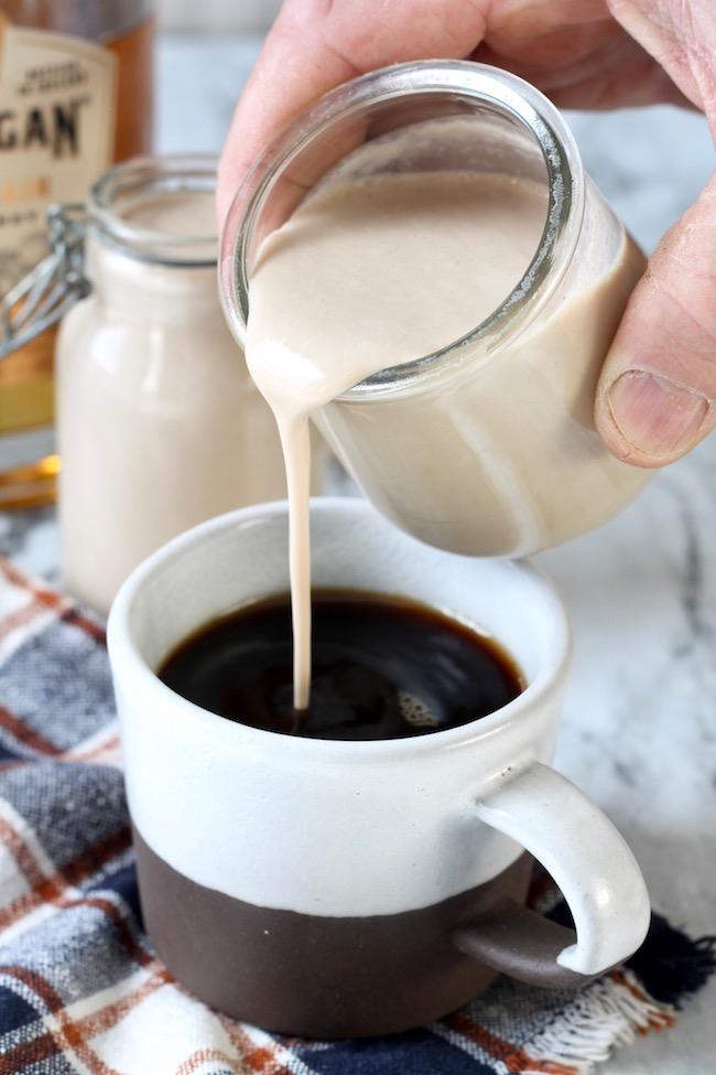 Homemade Bailey's Irish Cream is the perfect coffee creamer!
