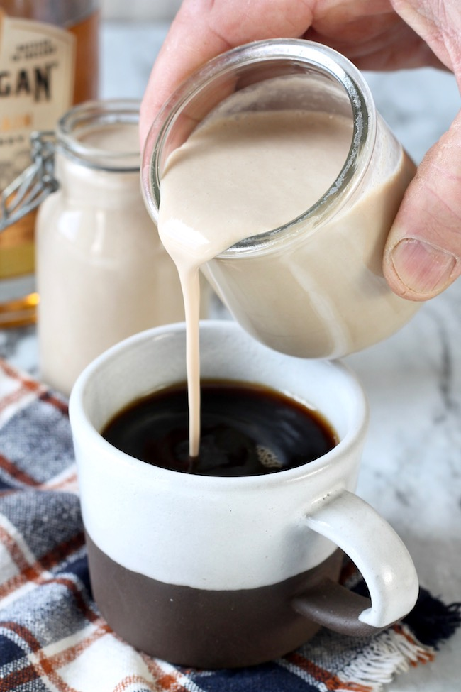 Homemade Bailey's Irish Cream is the perfect coffee creamer!