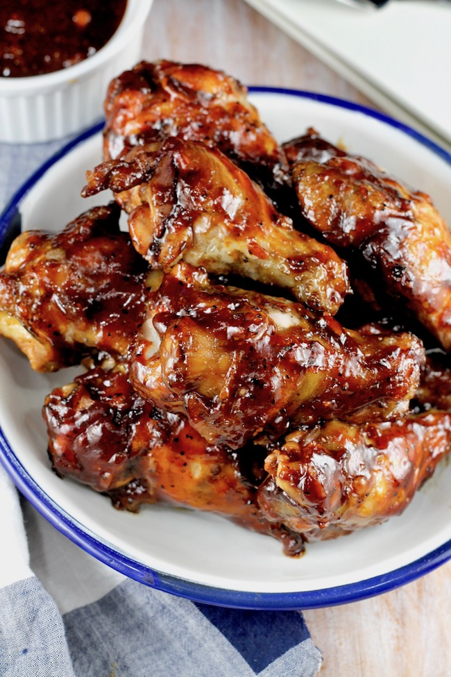 Barbecue Chicken Wings ~ baked or grilled ~ easy recipe