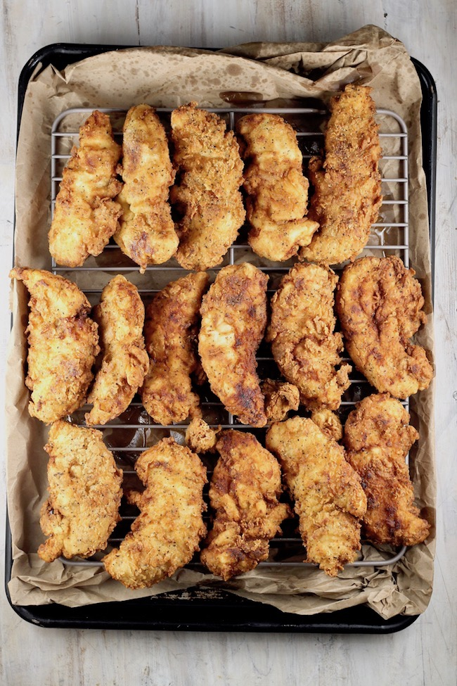 How to keep chicken strips crispy