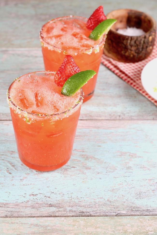 Strawberry Margarita Easy Recipe Miss In The Kitchen